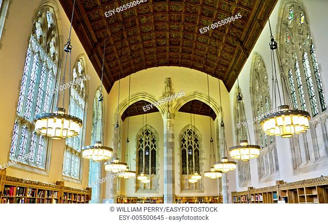 Study Hall Yale University Sterling Memorial Library New Haven Connecticut Fifth largest library in the United States