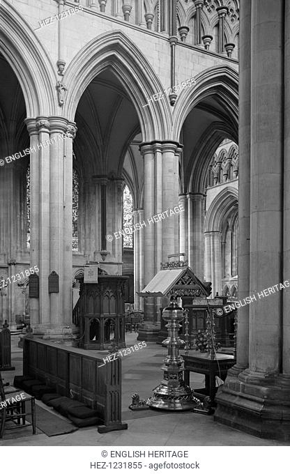 Beverley Minster, East Riding of Yorkshire, 1970. Beverley Minster is a large and beautiful church dating from the mid 13th century