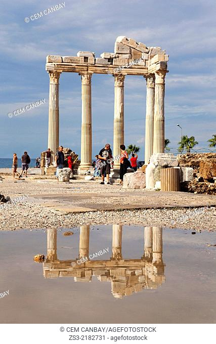 Temple of Apollo, ancient city of Pamphylia in Side, Turkish Riviera, Antalya Region, Turkey, Europe
