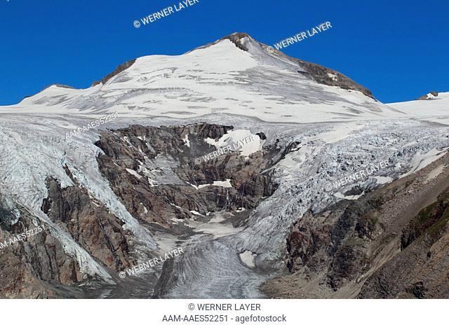 Hohe Taueren National Park, The Pasterze Glacier, the largest glacier of the eastern Alps. Austria