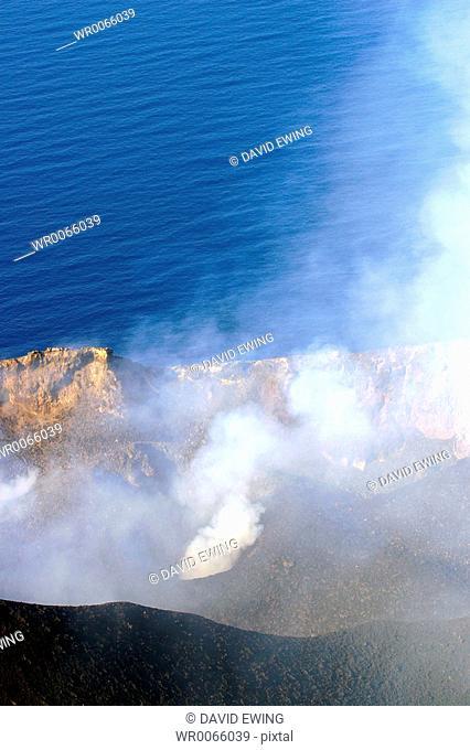 Erupting Volcano, Stromboli, Italy