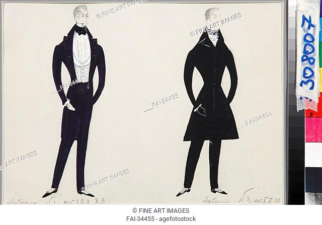 Arbenin. Costume design for the play The Masquerade by M. Lermontov by Stenberg, Enar Georgievich (1929-2002)/Gouache on paper/Theatrical scenic...