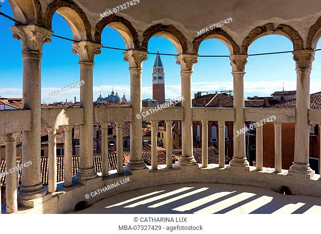 Venice, view from the Palazzo Contarini del Bovolo towards St. Mark's Square