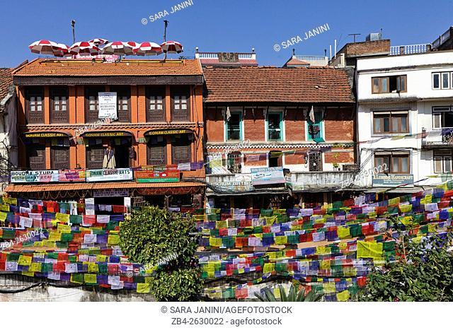 Boudhanath district, Kathmandu, Nepal, Asia