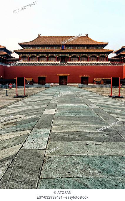The Meridian Gate. Forbidden City in Beijing, China