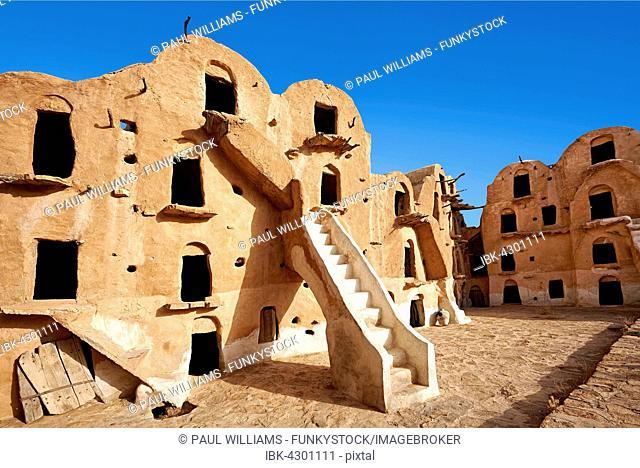 Ksar Ouled Soltane, fortified granary near Tataouine, northern Sahara, Tunisia