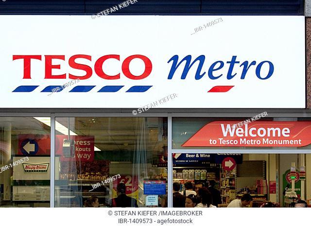 Store of the supermarket chain Tesco, Tesco Express, London, England, United Kingdom, Europe