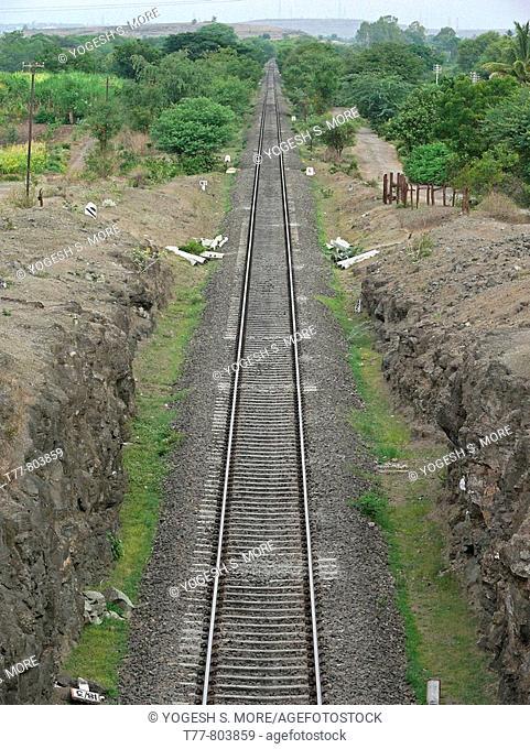 Railroad tracks  Ramdarya, Pune, Maharashtra, India