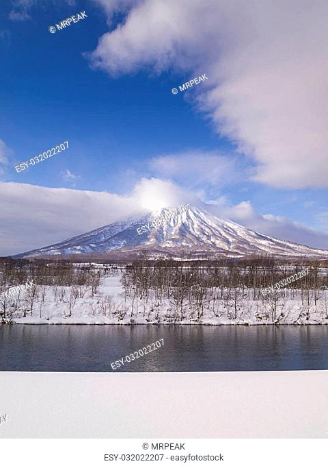 Mount Yotei, an active stratovolcano located in Shikotsu-Toya National Park, Hokkaido, Japan. It is one of the 100 famous mountains in Japan