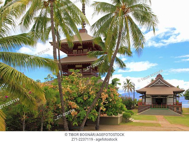 Hawaii, Maui, Lahaina, Jodo Mission, Japanese buddhist temple,