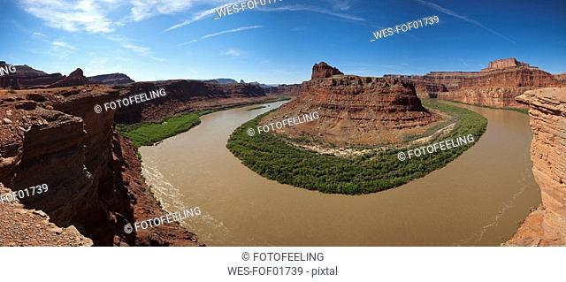 USA, Utah, Colorado River, rock formation, elevated view