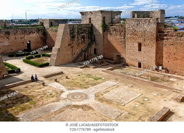 Castle of the Guzmanes, 15th century, Niebla, Huelva-province, Spain