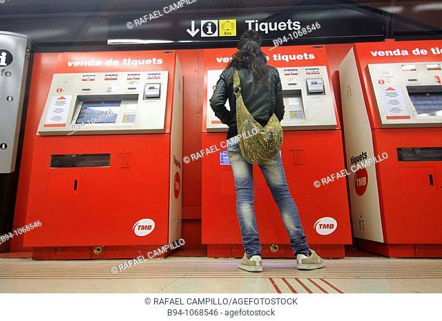 Subway station, Barcelona. Catalonia, Spain