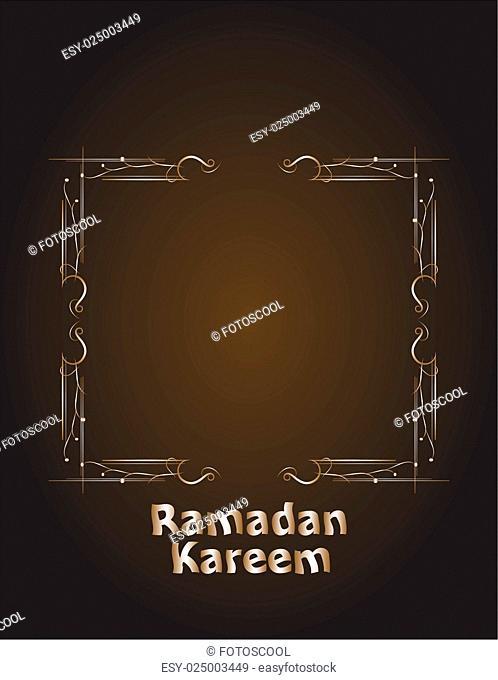 Ramadan Kareem. lettering composition of muslim holy month