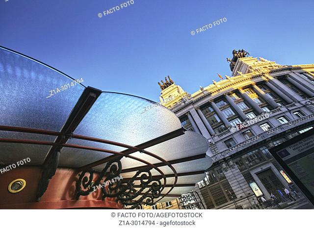 Low angle view of the city center. Madrid. Spain