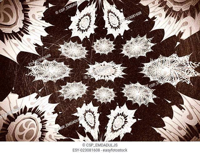Decorative motif vintage background