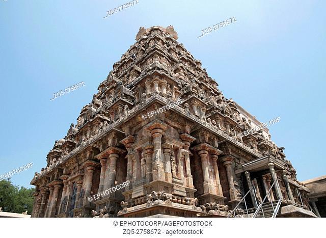 Airavatesvara Temple, Darasuram, Tamil Nadu, India. View from South West
