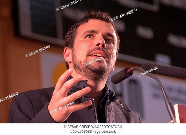 -Alberto Garzón Leader of 'Izquierda Unida' Party- Elections 2015. Alicante Spain