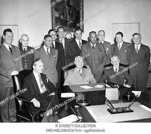 Pres. Truman desegregated the U.S. Military with Executive Order 9981, on July 26, 1948. Six months later he conferred with the Committee on Equality of...