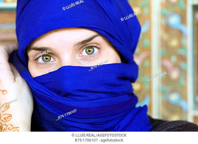 Close up of a woman portrait with hijab