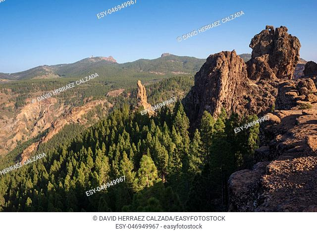 Scenic mountanious landscape in Grand Canary, Canary islands, Spain