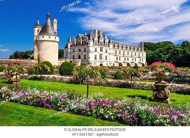 Chenonceau castle, Loire department, France
