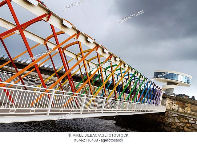 Oscar Niemeyer International Cultural Centre. Aviles, Asturias, Spain, Europe