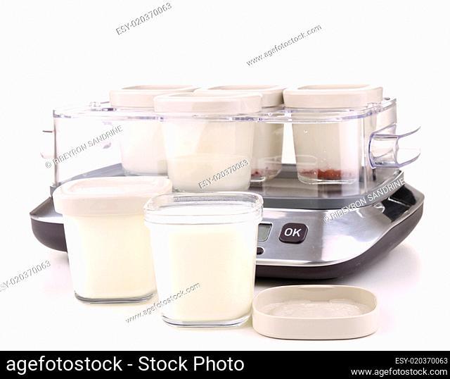 isolated yogurt