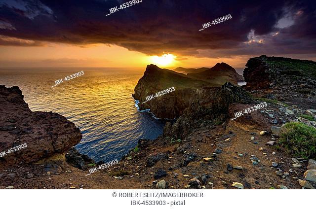 San Lorenzo Peninsula At Sunrise Laurenzo Madeira Portugal