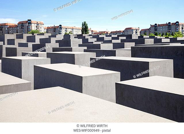 Germany, Berlin, Holocaust Memorial, Concrete stelaes