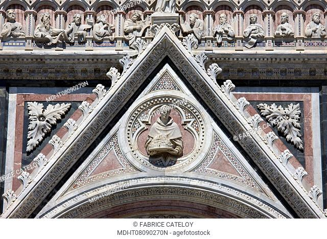 Detail of the cathedral or Duomo porch
