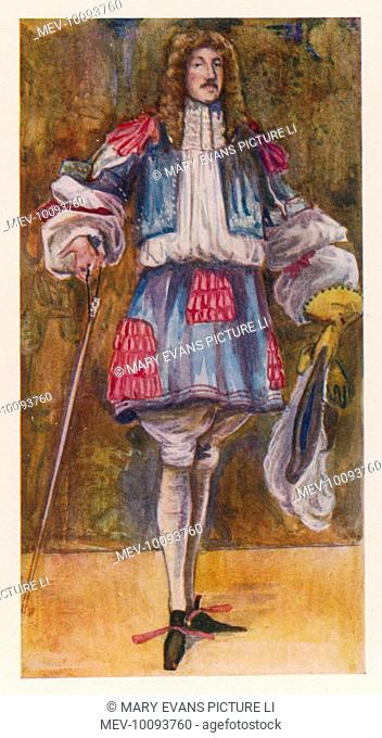 The Restoration and the permissive society favoured by Charles II are reflected in a new extravagance in dress, as in this gentleman's fancy petticoat