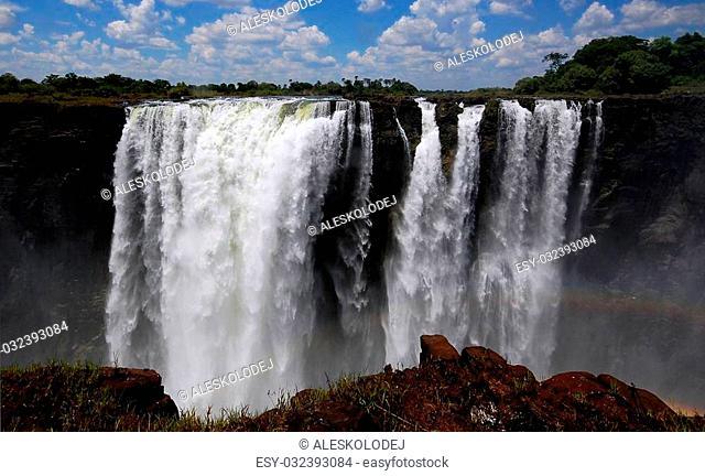 The Victoria Falls in Zimbabwe