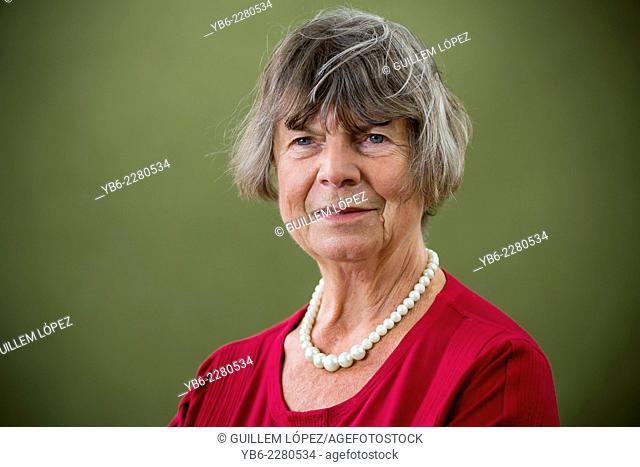 English novelist, biographer and critic, Dame Margaret Drabble, Lady Holroyd DBE FRSL, appears at the Edinburgh International Book Festival