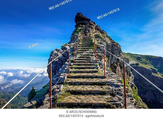 Wanderweg PR1 vom Pico do Arieiro zum Pico Ruivo, Madeira, Portugal