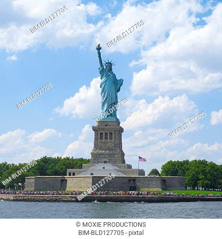 Statue of Liberty on Ellis Island, New York, New York, United States