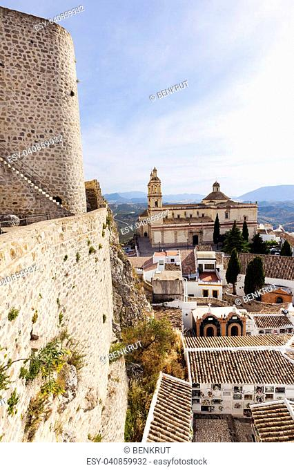 Parish of Our Lady of the Incarnation in Olvera. Olvera, Andalusia, Spain