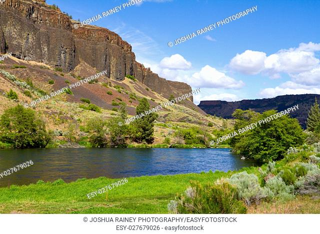 Photographs from the wild and scenic section of the Lower Deschutes River canyon in Oregon near Madras in the Eastern / Central part of the state