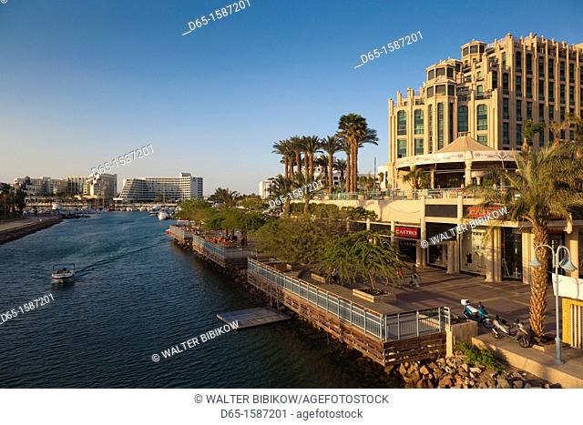 Israel, The Negev, Eilat, hotels along the lagoon