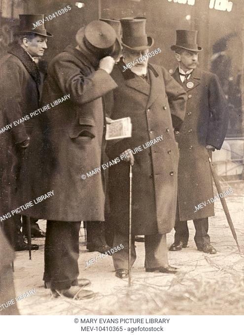 King Edward VII visiting the Smithfield Show at the Agricultural Hall in Islington, North London