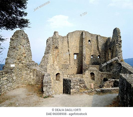 Ruins of Castle of Matilda of Canossa in Ciano d'Enza (Reggio Emilia), Emilia-Romagna. Italy, 10th century