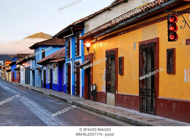 Colorful Street at Sunrise