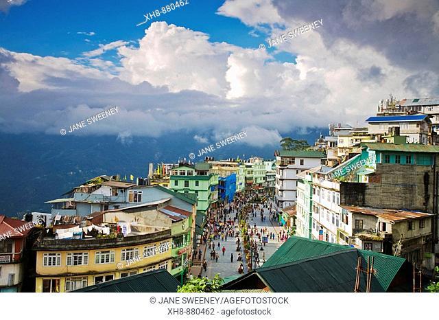 India, Sikkim, Gangtok, Mahatma Gandi Marg - MG Marg, The main shopping street