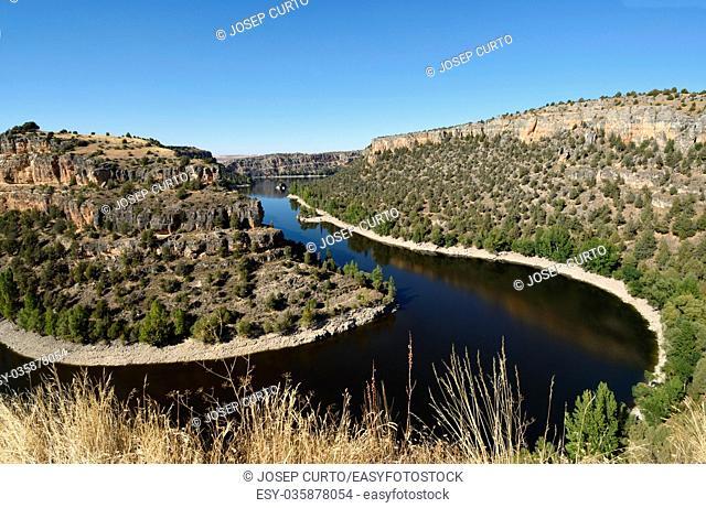 Hoces Duraton river, Natural Park, Sepulveda, Segovia province, Castilla-Leon, Spain