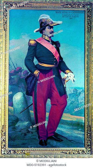 Portrait of Marshal of France Francois Certain Canrobert (Ritratto del maresciallo di Francia Francois Certain Canrobert), by Giulio Carlini, 1880, 19th Century