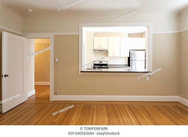 Empty clean studio apartment