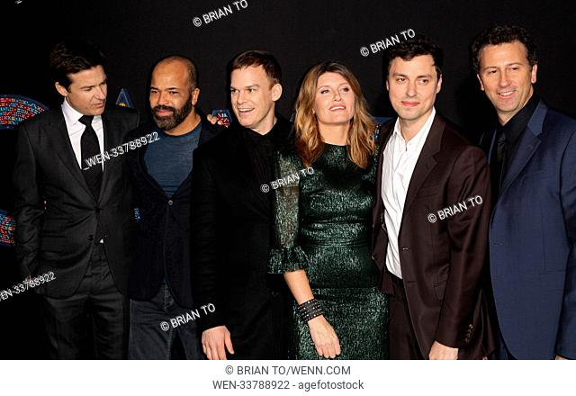 Celebrities attend World Premiere of Game Night at TCL Chinese Theater. Featuring: Jason Bateman, Jeffrey Wright, Michael C Hall, Sharon Horgan