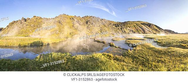 Landmannalaugar natural hot springs (Fjallabak Nature Reserve, Highlands, Southern Region, Iceland, Europe)