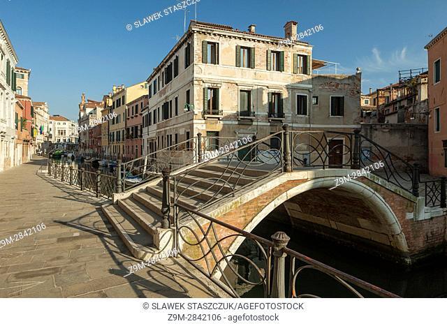 Morning in the sestier of San Polo, Venice, Italy