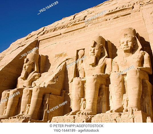 The Archaeological site of the Temple at Abu Simbel